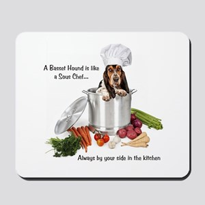 Basset Chef Mousepad